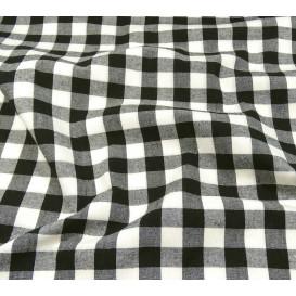coupon 0,46mx1,43m tissu satin carnaval blanc pois 2,3cm noir