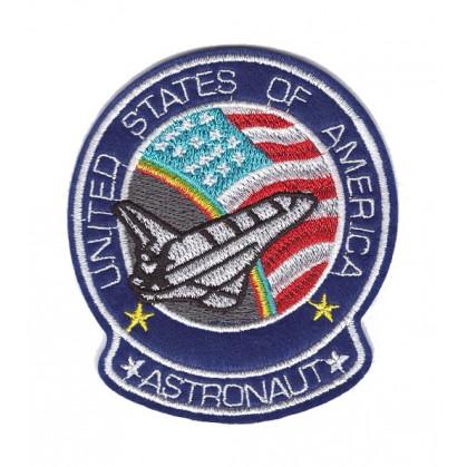 écusson fusée united states of america thermocollant