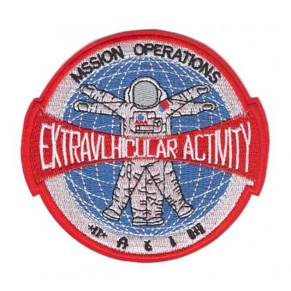 écusson astronaute rond rouge thermocollant
