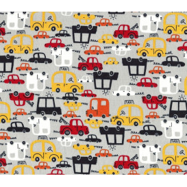 tissu coton gris voiture largeur 145cm x 50cm