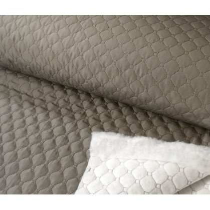 tissu matelassé gris largeur 145cm x 50cm