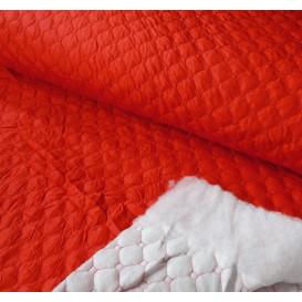 tissu matelassé rouge largeur 145cm x 50cm