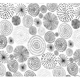 tissu coton blanc feux artifice largeur 147cm x 50cm