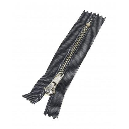 fermeture à glissière métal jeans argent n°4