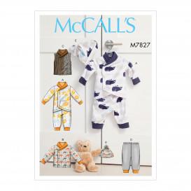 patron enfant nid d'ange, veste, gilet McCall's M7827