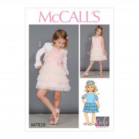 patron enfant boléro et robes McCall's M7828