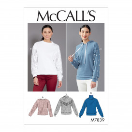 patron hauts ajustés McCall's M7839