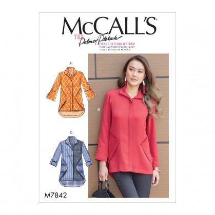 patron chemises semi-ajustées McCall's M7842