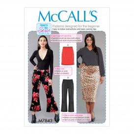 patron jupes et pantalons McCall's M7843