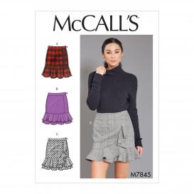 patron jupes ajustées McCall's M7845