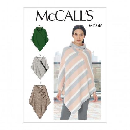 patron ponchos très amples McCall's M7846