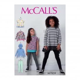 patron enfant hauts et collants McCall's M7859