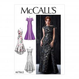 patron robe doublée McCall's M7865