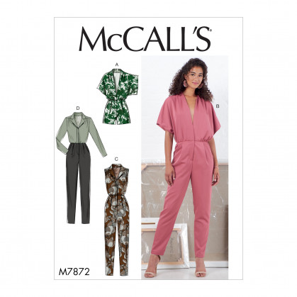 patron barboteuse et combinaison McCall's M7872