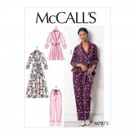 patron veste, peignoir, pantalon McCall's M7875