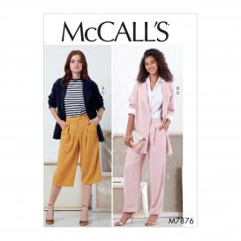 patron vestes et pantalon McCall's M7876