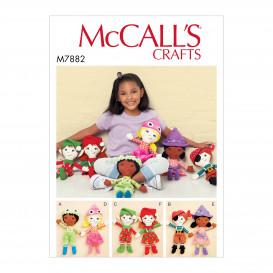patron poupées McCall's M7882
