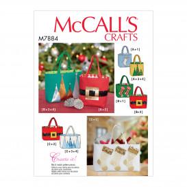 patron sacs-cadeaux de noël McCall's M7884