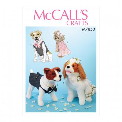 patron vêtements pour animaux McCall's M7850