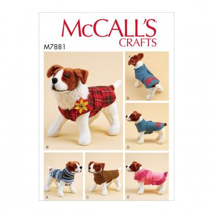 patron manteaux pour chien McCall's M7881