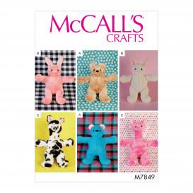 patron jouets en peluche McCall's M7849
