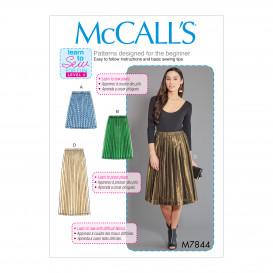 patron jupes plissées McCall's M7844