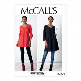 patron tunique et robe McCall's M7871