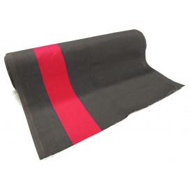 coupon 0,36mx0,45m tissu toile transat  gris/fuchsia