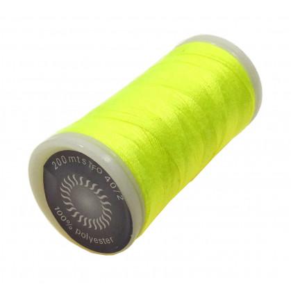 fil à coudre polyester jaune fluo 200m