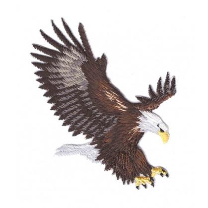 écusson aigle proie thermocollant