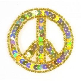 emblème paillettes peace