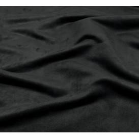 Coupon 0,27m x1,50m tissu suédine noir