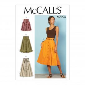 patron jupes très plissées McCall's M7906