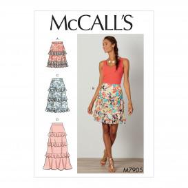 patron jupes semi-ajustées McCall's M7905