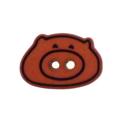 bouton enfant tête de cochon