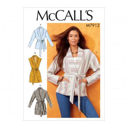 patron vestes, gilet et ceinture McCall's M7912