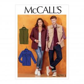 patron veste et gilet unisexe McCall's M7913