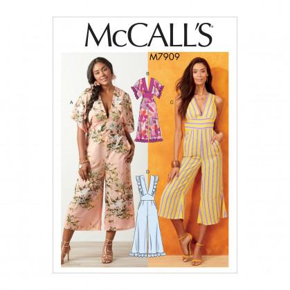 patron combinaisons à corsage McCall's M7909