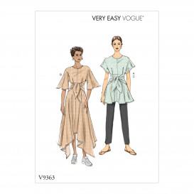 patron tunique, robe et pantalon Vogue V9363