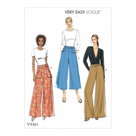 patron pantalon semi-ajusté Vogue V9361
