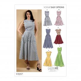 patron robe ajustée Vogue V9357