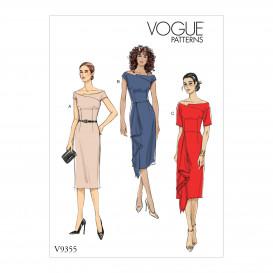 patron robe ajustée Vogue V9355