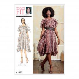 patron robe ample Vogue V1612