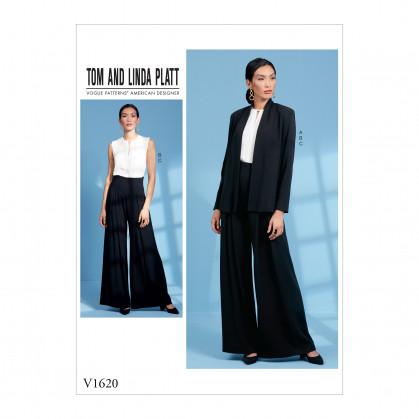 patron veste, haut et pantalon Vogue V1620