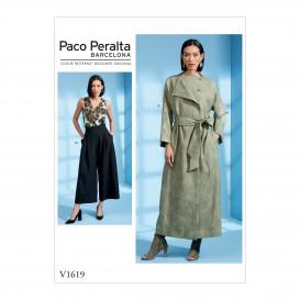 patron surtout, ceinture et pantalon Vogue V1619