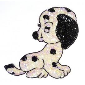 emblème paillettes grand chien