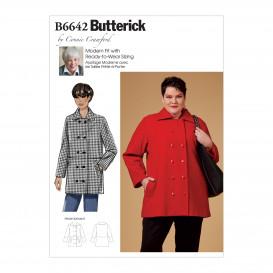 patron manteau croisé Butterick B6642
