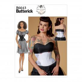 patron corset Butterick B6643