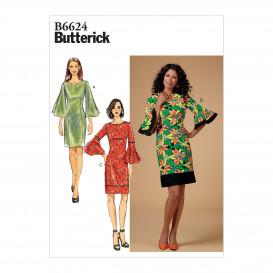patron robe fourreau ajustée Butterick B6624