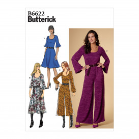 patron robe et combinaison Butterick B6622